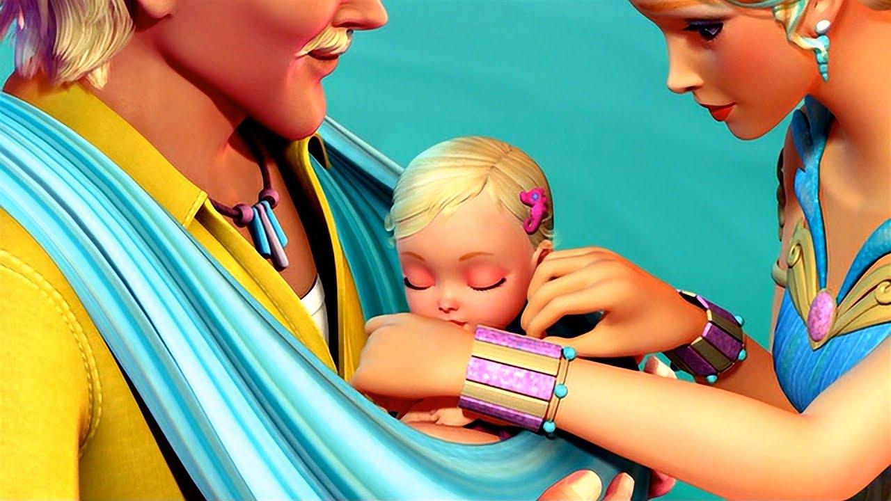 Barbie In A Mermaid Tale Break Adopts The Queen Calissa S Child