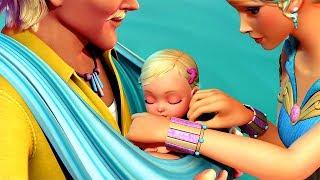 Barbie in A Mermaid Tale - Break adopts the Queen Calissa's child: Merliah