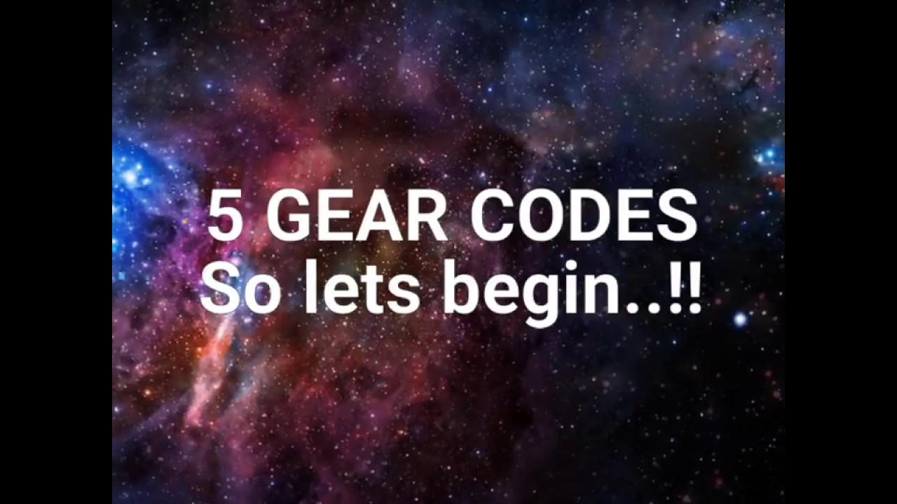 5 Gear Codes~ For Roblox