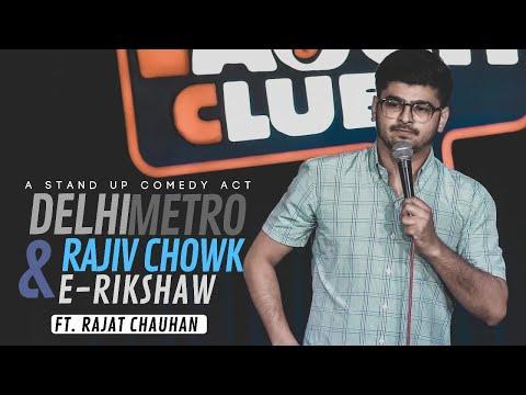 Delhi Metro, Rajiv chowk & E-rickshaw