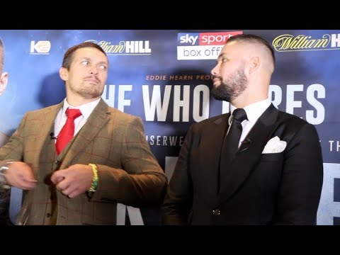 'I WILL NEVER QUIT!' - OLEKSANDR USYK & TONY BELLEW TRADE WORDS IN HEAD TO HEAD @ PRESS CONFERENCE