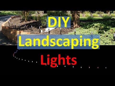 DIY Landscaping Lights Summer Project (Video#26)