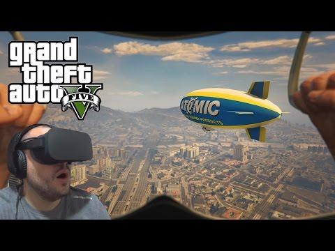 GTA V com o Oculus Rift | Saltos de Paraquedas! Do Chilliad, do Maze Bank e de Helicóptero! \o/