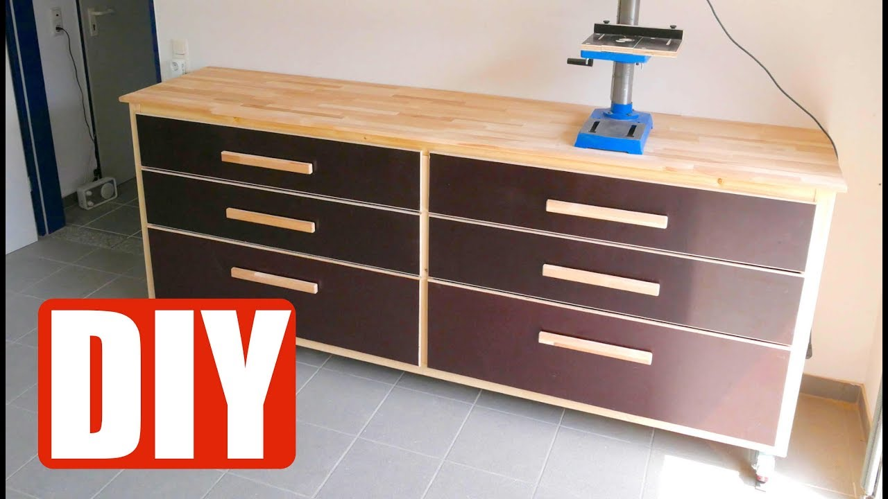 diy build a workbench werkbank selber bauen. Black Bedroom Furniture Sets. Home Design Ideas