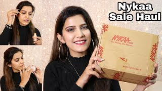 Nykaa Pink Friday Sale Haul + Try On   Winter Party Makeup    Super Style Tips