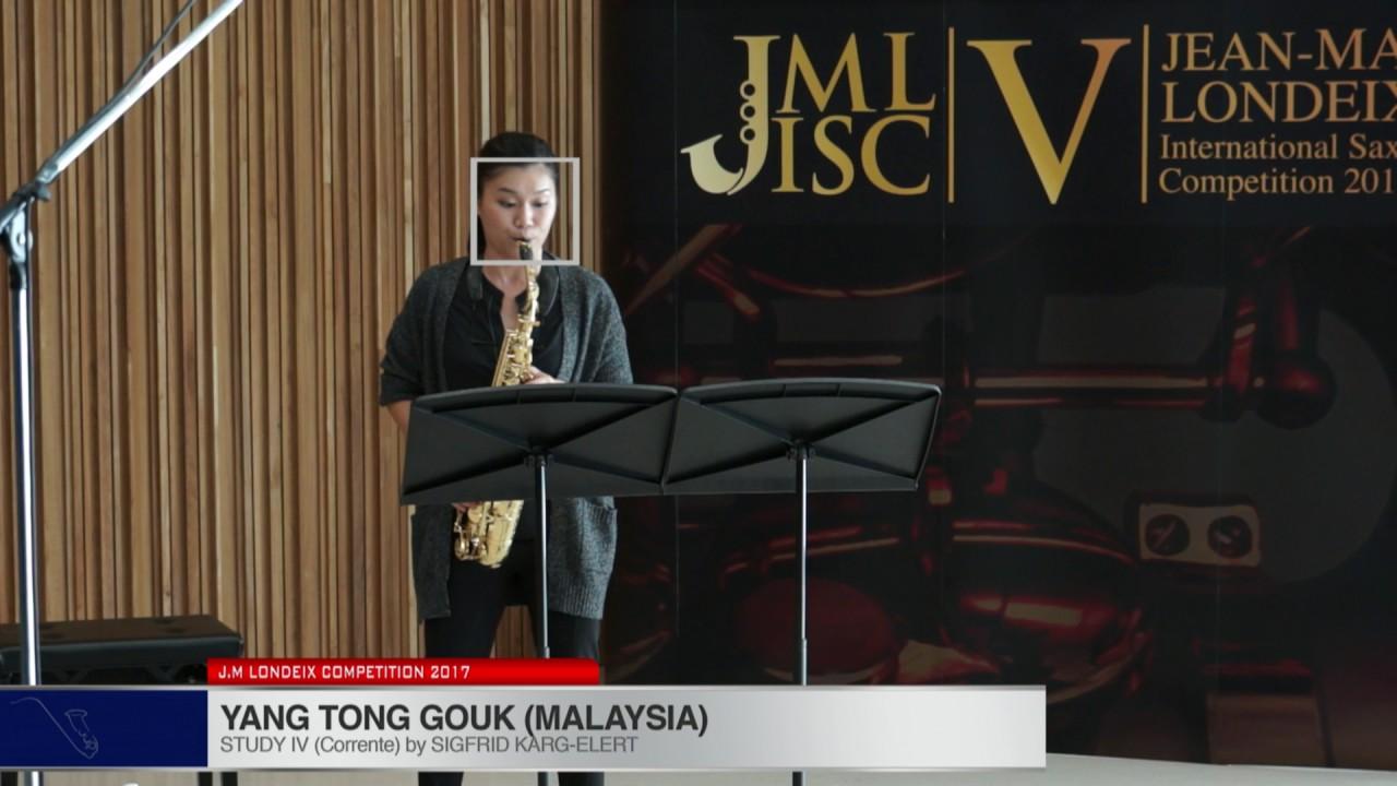 Londeix 2017 - Yan Tong Gouk (Malaysia) - IV Corrente by Sigfrid Karg Elert