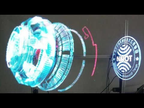 3D      Holographic  LED Fan 3D Spinning