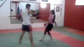 treino de muay thai feminino de rosangela
