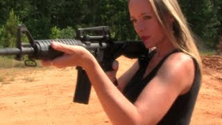 Sexiest Girl Shooting Guns Video Ever! (50 Cal BMG & Slide Fire On AR-15)