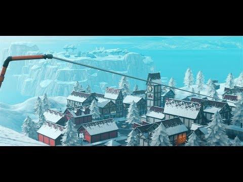 Fortnite - SEASON 7 SNOW MAP CINEMATICS (Cinematic Pack 9)