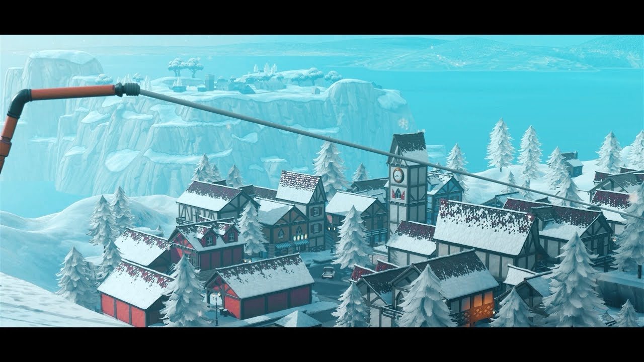 fortnite season 7 snow map cinematics cinematic pack 9 - fortnite map background season 8