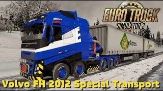 Euro Truck Simulator 2 {1.30}. Обзор мода: Volvo FH 2012 Special Transport + двойные прицепы