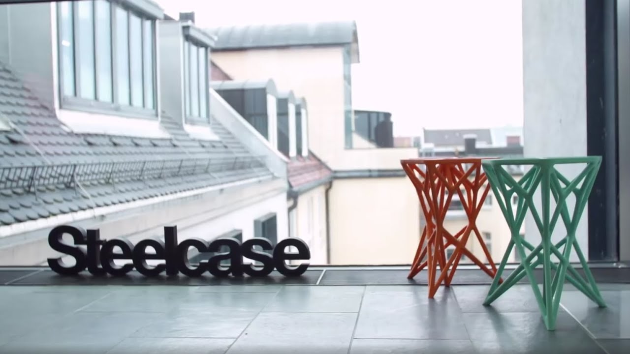 Printing full scale furniture with a 3D printer - Steelcase & the BigRep ONE