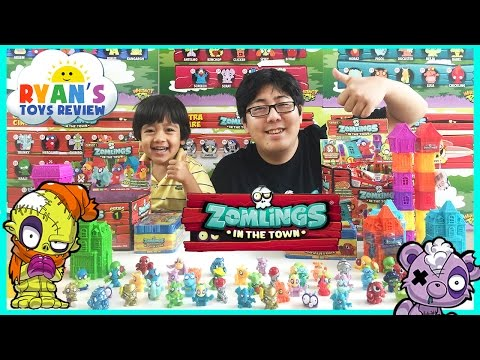 Zomlings In The Town USA Series 1 Opening Surprise Toys Blind Bags Magic Trick Hotel Ryan ToysReview