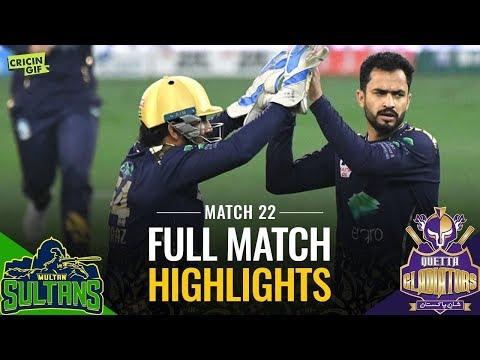 PSL 2019 Match 22: Multan Sultans vs Quetta Gladiators | Caltex Full Match Highlights
