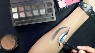 HAND ART MAKEUP | Half cut crease - GLAM looks