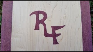 Inlaying Roberts initials (part 2 of 3)