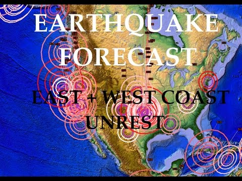 8/21/2015 -- United States Earthquake Forecast -- Major Midwest Movement + West Coast buildup