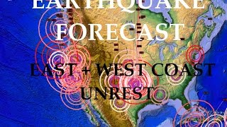 8/21/2015 -- United States Earthquake Forecast -- Major Midwest Movement + West Coast buildup