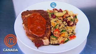 Rib-Eye Steak Team Battle 🥊| MasterChef Canada | MasterChef World