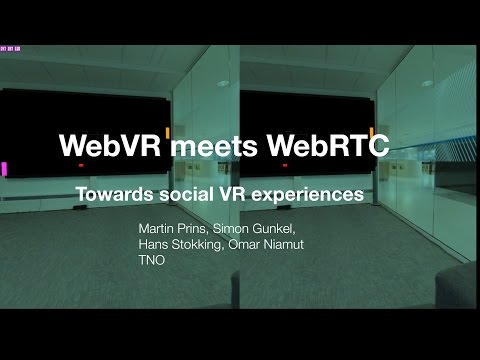 WebVR meets WebRTC: Towards 360-degree social VR experiences