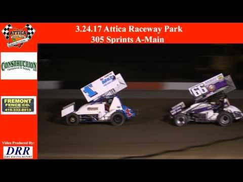 3.24.17 Attica Raceway Park 305 Sprints A Main