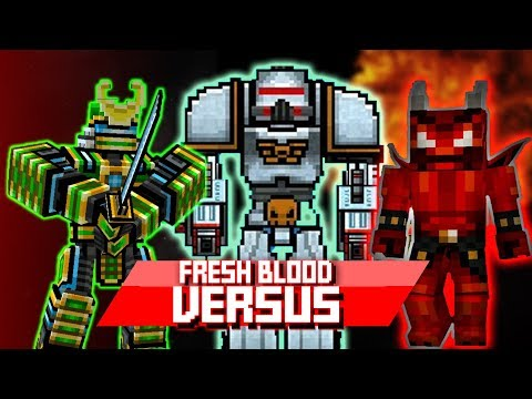 Pixel Gun - Robot Samurai VS Demon Stone VS Battle Mech