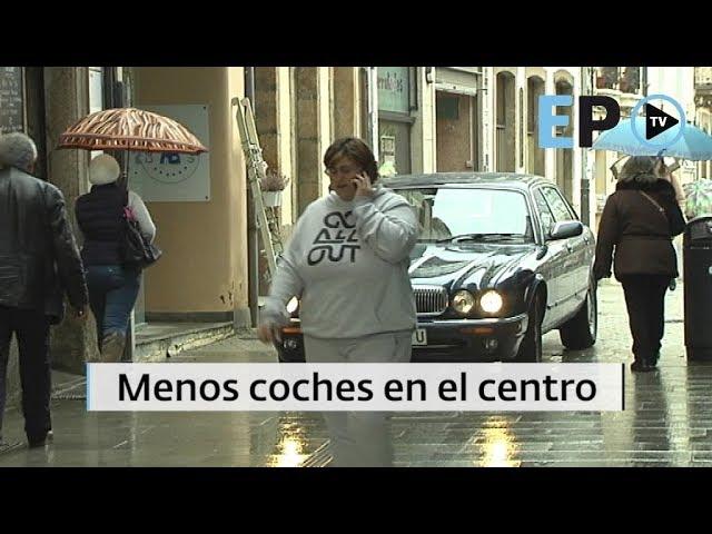 Menos coches en el centro de Lugo