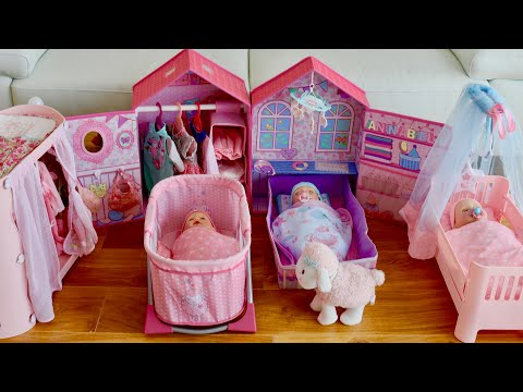 Baby Born Baby Annabell Nursery Room Nursery Toys Collection , Baby Dolls Care Routine Pretend Play
