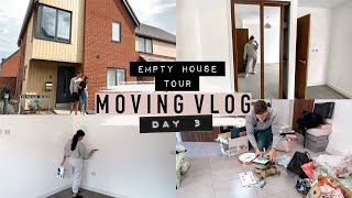MOVE DAY! UPDATES, EMPTY HOUSE TOUR, SPEED CLEAN & MORE PACKING · Moving Vlogs | Emily Philpott