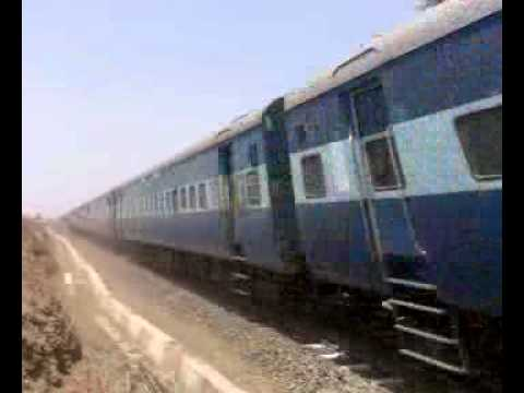 kolhapur-nagpur express at kavathe-mahankal junction