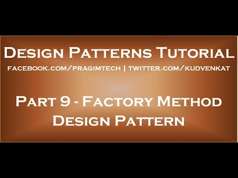Factory design pattern c# simple example