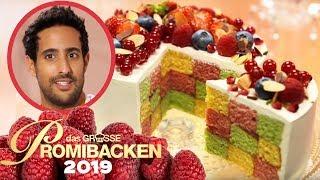 Sami Slimani backt bunten Schachbrett-Kuchen | 2 | Aufgabe | Das große Promibacken 2019 | SAT.1 TV