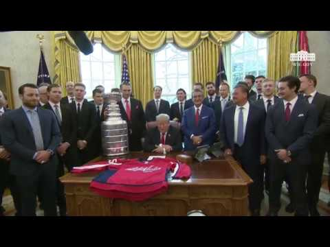 President Trump Participates in a Photo Opportunity with the 2018 Stanley Cup Champions