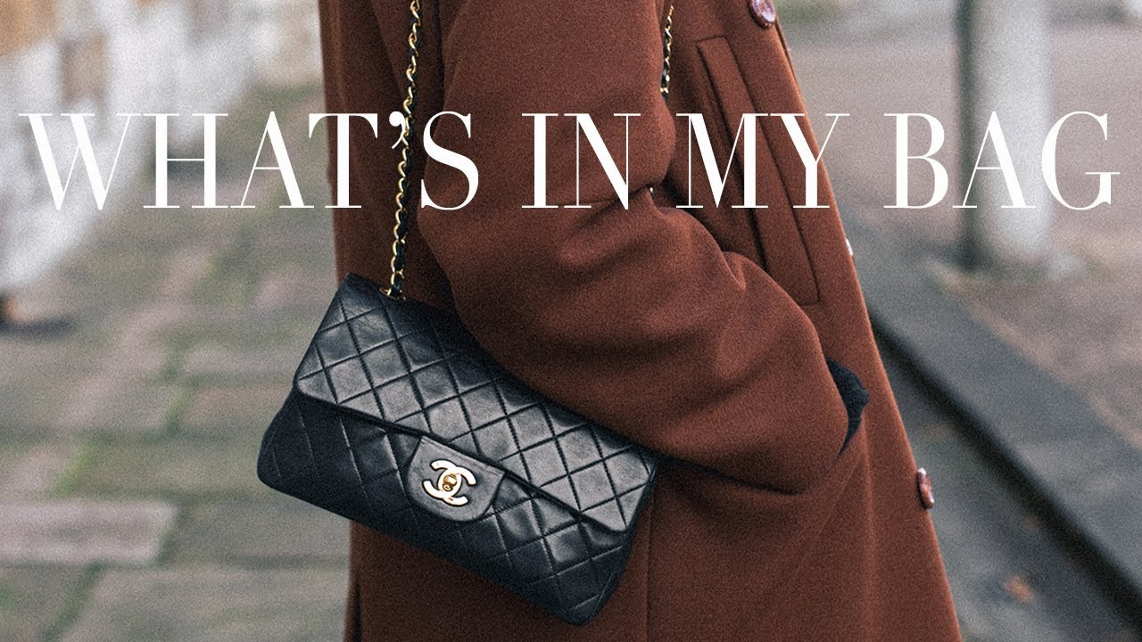 a06027315b05 What's In My Bag | Vintage Chanel Double Flap Timeless - YouTube