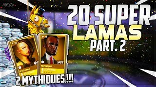 Fortnite: Opening of 20 Legendary Troll Loot Lamas Part.2! (Save the World Fortnite)