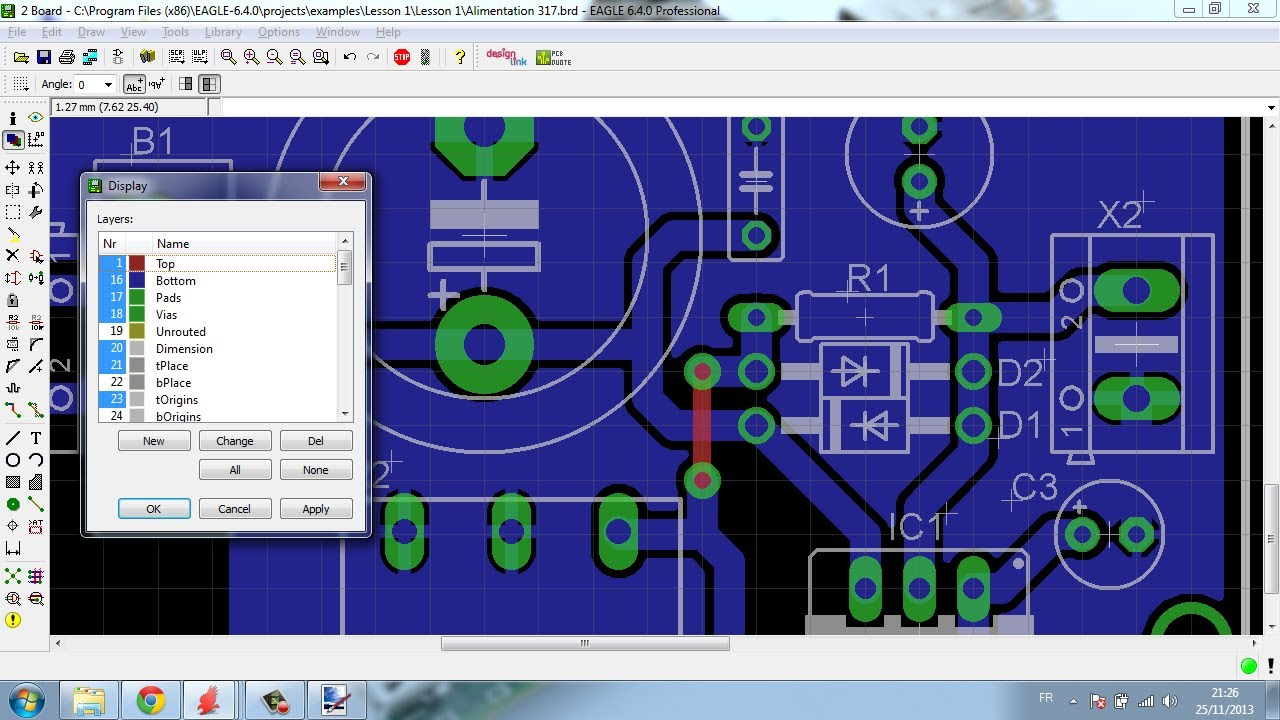 Eagle Tutorial 2 (PCB layout) Algerian Language - YouTube