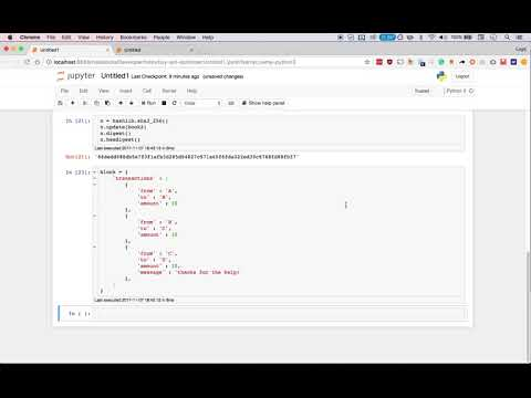 Real Time Blockchain Concepts In Python! - Hashes And PoW