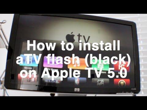 aTV Flash (black) on Apple TV 5.0 (iOS 5.1)