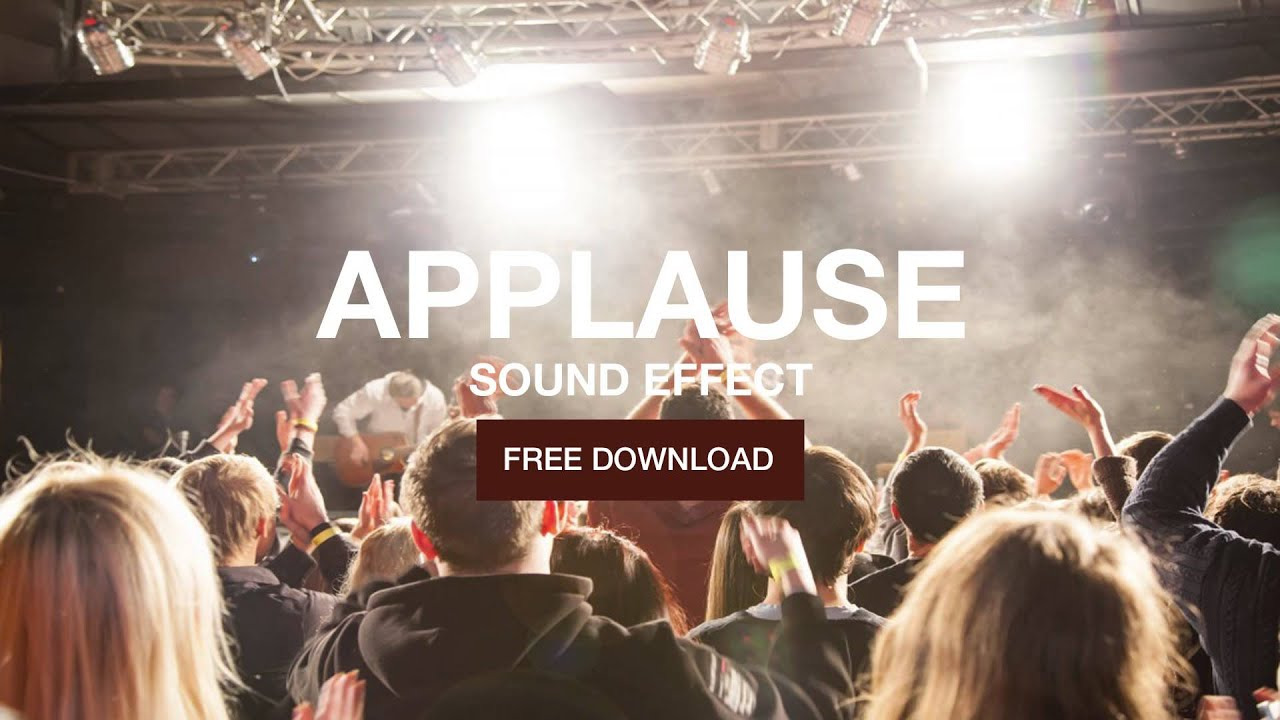 Applause small crowd sound effect free download youtube.