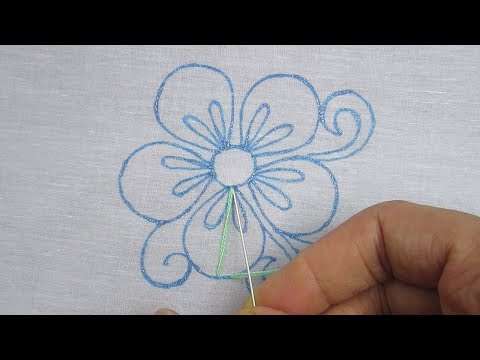 Hand Embroidery, Latest Flower Embroidery Design, Flower Embroidery