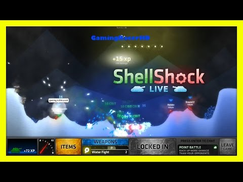 ShellShock Live - Let's Play #82 - DOUBLE WATER FIGHT! [1080p 60FPS] - 동영상