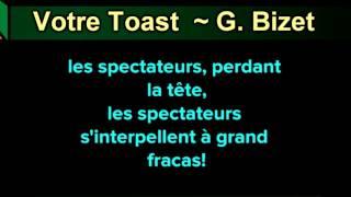 Votre Toast (Toreador Song) ~ G. Bizet ~ New Karaoke ~ Karaoke 808