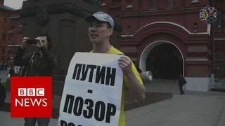 Russian Activist Iidar Dadin Freed From Jail   BBC News