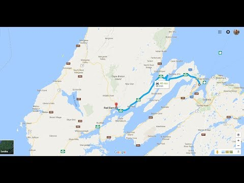 Part 12 The Cabot Trail, Big Red Barn in Baddeck to North Sydney