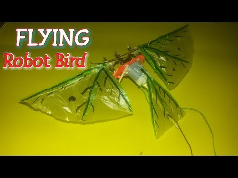 How To Make A Robot Flying Bird At Home  electronic  flying bird idea
