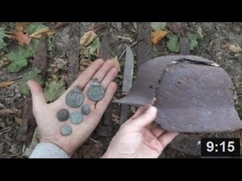 WW2 : Seelow Heights relics tour part 1/2 - metal detecting and more