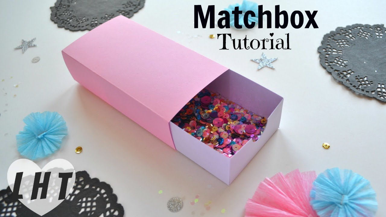 How to Make a Cardstock Matchbox - Easy Large Matchbox Tutorial ...