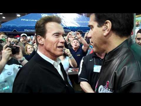 Arnold Schwarzenegger and Lou Ferrigno at Arnold Classic Expo 2011