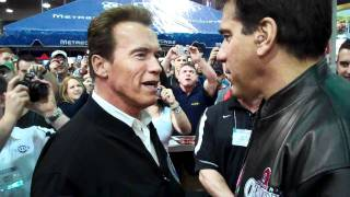 Arnold Schwarzenegger and Lou Ferrigno at Arnold Classic Expo 2011